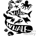 wall print kids decor sea life creatures whale shark lobster  gif, png, jpg, eps, svg, pdf