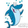 clipart happy blue shark cartoon waving for greeting vector  gif, png, jpg, eps, svg, pdf