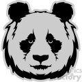 panda head svg cut file with base