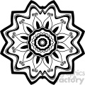 mandala geometric vector design 018