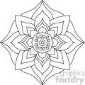 mandala geometric vector design 008