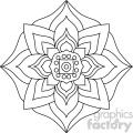 mandala geometric vector design 008