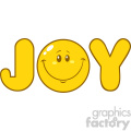 10844 royalty free rf clipart joy yellow logo with smiley face cartoon character vector illustration  gif, png, jpg, eps, svg, pdf