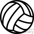 volleyball outline svg cut file