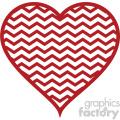chevron heart svg cut file vector clip art image