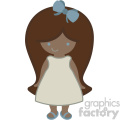 little girl svg cut file dxf vector