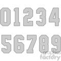 number set vector svg cut files art vector clip art image
