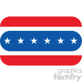 4th of july hotdog vector icon