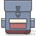 Backpack clip art vector images