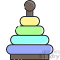 Stacking toy vector clip art images