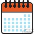 blank calendar days vector icon