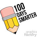 100 days smarter vector art