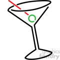 cocktails vector symbol vector clip art image