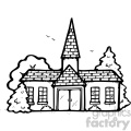 church 001 bw