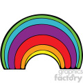 cartoon rainbow vector clipart