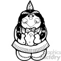 black and white indian girl art