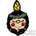 native american indian girl art