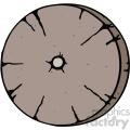 wooden wheel cartoon image