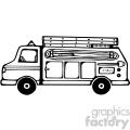 black white fire truck