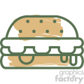cheeseburger food vector flat icon design