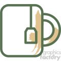 cup of tea food vector flat icon design