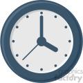 clock vector flat icon