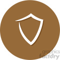 shield circle background vector flat icon