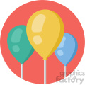 balloons circle background vector flat icon