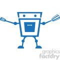 cooking robot character vector art