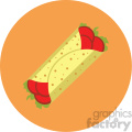 burrito vector flat icon clipart with circle background