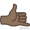 african american hand hang loose gesture vector icon