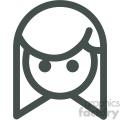 girl avatar vector icons