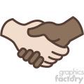 interracial handshake vector icon