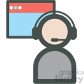 tech support web hosting vector icons