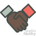 african american handshake agreement vector icon