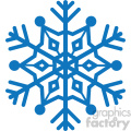 navy blue snowflake vector rf clip art