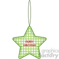 green star Christmas tree decoration