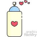 heart spray paint can