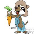 cartoon sloth farmer