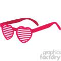 heart glasses of love for valentines