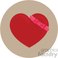 heart with bow for valentines tan background