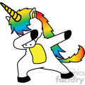 cartoon unicorn doing the dab