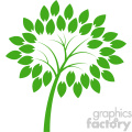 vector green tree design