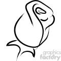 cartoon rose drawing vector icon