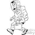 cartoon man in hazmat suit vector clipart