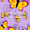 Tiled butterfly background