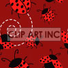 tiled ladybug background