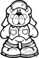 Black and white cartoon bear