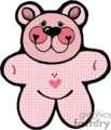 cute pink teddy bear gif, eps