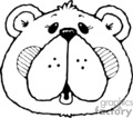 black and white of teddy bear face gif, eps